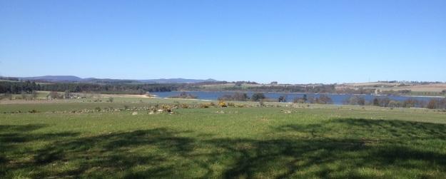 Benachie across Loch Skene