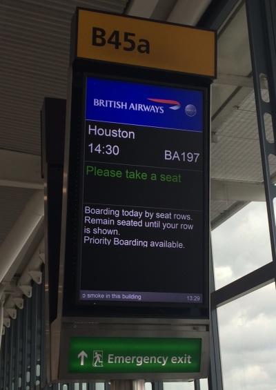Houston Departure